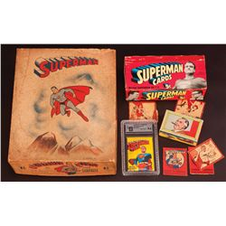 SUPERMAN CANDY AND TRADING CARD BOXES