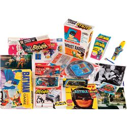 BATMAN 1960'S COLLECTION OF (19) ITEMS