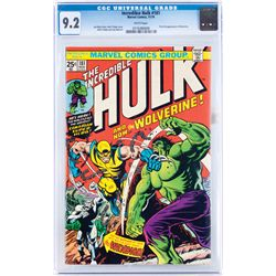 WOLVERINE'S FIRST APPEARANCE IN THE INCREDIBLE HULK COMIC #181