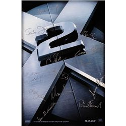 X-2 CAST SIGNED POSTER