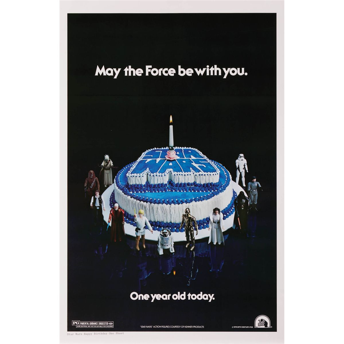 star wars happy birthday style one sheet poster