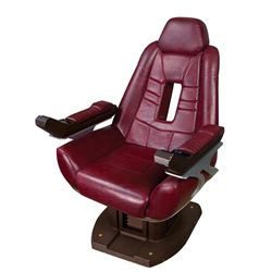 "JEAN LUC PICARD'S ""ENTERPRISE-E"" COMMAND CHAIR FROM THE STAR TREK FILMS."