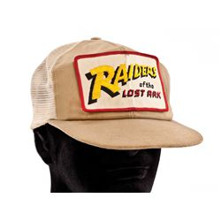 STEVEN SPIELBERG PERSONAL RAIDERS OF THE LOST ARK CREW CAP WORN ON THE SET