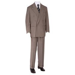 "SUIT JACKET & PANTS WORN BY DENHOLM ELLIOT AS ""DR. MARCUS BRODY"" IN INDIANA JONES & THE LAST CRUSADE"