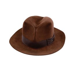 "HARRISON FORD ""INDIANA JONES"" HAT USED IN AN EARLY COSTUME FITTING FOR INDIANA JONES"