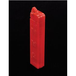 TRADEMARK BOX PEZ ALL RED DISPENSER