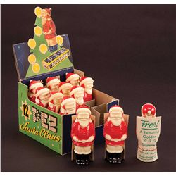 1950S FULL DISPLAY BOX OF SANTA CLAUS PEZ DISPENSERS