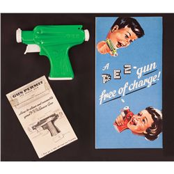 1950S PREMIUM OFFER ADVERTISING SHEET WITH SPACE GUN PEZ DISPENSER