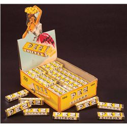"1950S PEZ ""CITRON"" CANDY BOX WITH CANDY"