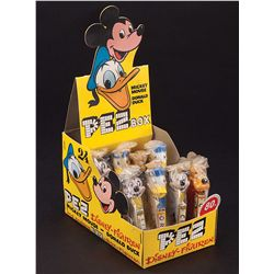 MICKEY MOUSE & DONALD DUCK DIE CUT DISPLAY BOX WITH 8 CHARACTER PEZ DISPENSERS