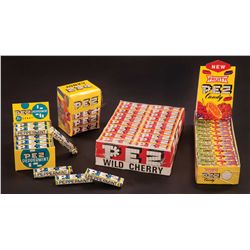 (4) PEZ CANDY BOXES (FULL) FROM THE 1970'S