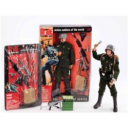 (2) G.I. JOE GERMAN SOLDIER WITH MOTORCYCLE AND SIDE CAR