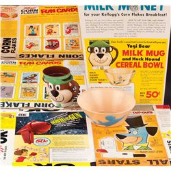 CEREAL BOXES AND PREMIUMS FROM YOGI BEAR AND OTHER HANNA BARBERA CHARACTERS