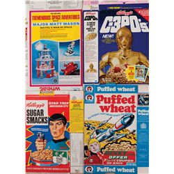 KELLOGG'S SUGAR SMACK'S CEREAL WITH MR SPOCK AND (3) OTHER SCIENCE FICTION THEME CEREAL BOXES