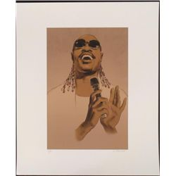 Clifford Faust Signed Stevie Wonder Motown Art Print