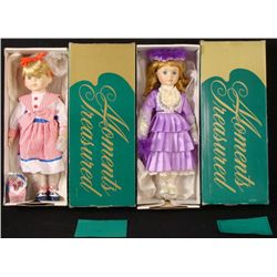 2 Moments Treasures Ltd Ed 17 In. Porcelain Dolls MIB