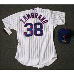Authentic Chicago Cubs Carlos Zambrano Jersey and Hat