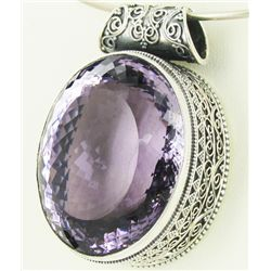 370twc Purple Pink Amethyst Sterling Pendant (JEW-3336)