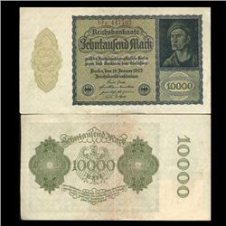 1922 Germany 10000 Mark Note Hi Grade Rare (CUR-05674)