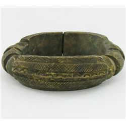 1320ct Antique African Tribal HEAVY Bronze Cuff Bracelet (ANT-2114)
