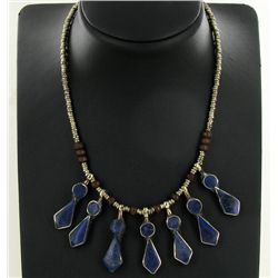 250ct Handcrafted Lapis Nickel Necklace (JEW-4373)