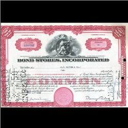 1950s Bond Stores Stock Certificate Rare (CUR-06399)