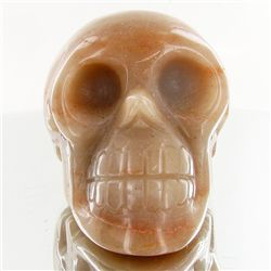1440ct Hand Carved Agate Skull (MIN-001714)