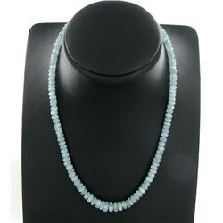 80twc Aquamarine Silver Necklace Appr Est $9k (JEW-3314)