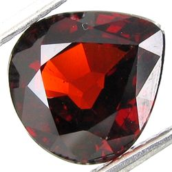 3.42ct Pear Red Orange Spessartite Garnet (GEM-19459)