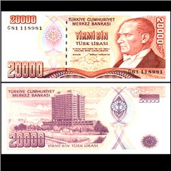 1988 Turkey 20000 Lira Note Crisp Unc (CUR-06709)