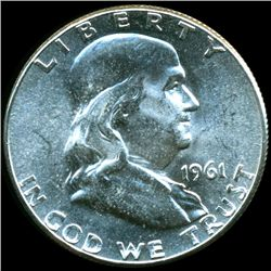 1961 Franklin Silver Half MS65/66 Underweight ERROR (COI-10496)