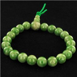 85ct Green Jade Beads Bracelet (JEW-4287)