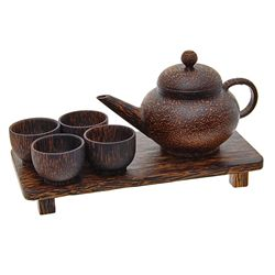 Handcrafted Sugar Palm Tea Set (DEC-281)