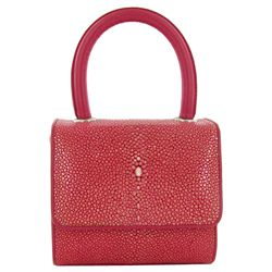 Polished Stingray Skin Handbag Purse (ACT-391)
