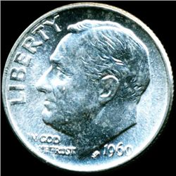 1960 FDR Silver 10c MS66 Full Bands (COI-11653)