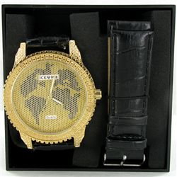 New Ice Time Mens Diamond Bezel Watch (WAT-339)