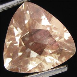 3.25ct Clear Champagne Oregon Sunstone Trillion (GEM-31067)