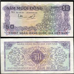 1966 Vietnam 50 Dong Crisp Circulated (CUR-06284)