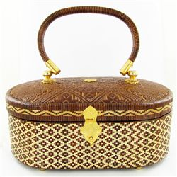 Finely Hand-woven Lipao Gold Plate Handbag (ACT-402)