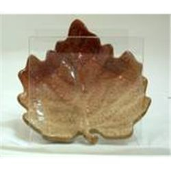 Autumn Settings Stoneware Leaf Dish by Russ New In Box-  Brown