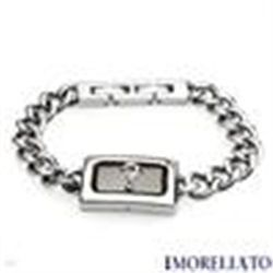 "GENUINE DIAMOND 2 TONE BRACELET  BY MORELLATO   52.0g 8"" length"