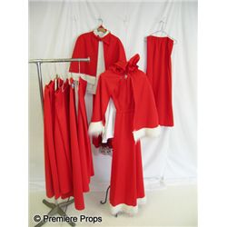 Lot of Mrs. Claus Costumes & Pieces