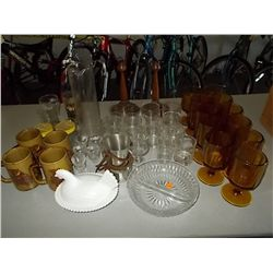 Misc. Lot of Glass ware-  Coke Glass -