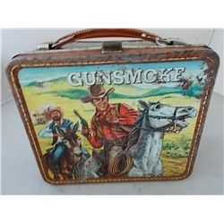 VINTAGE 1973 GUNSMOKE METAL LUNCH BOX