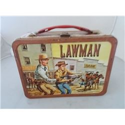 Vintage Lawman TV Western Metal Lunchbox