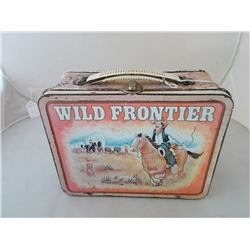 Vintage Metal Lunch Box Wild Frontier