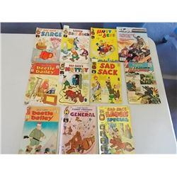 11 Sad Sack & Beetle Bailey Comics