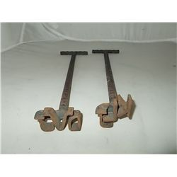 Pair of miniature Branding Irons 11""