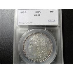 1898-S Morgan Dollar MS65 DMPL