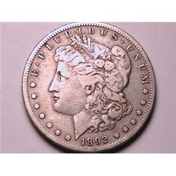 BETTER DATE 1892-S Morgan Dollar F12